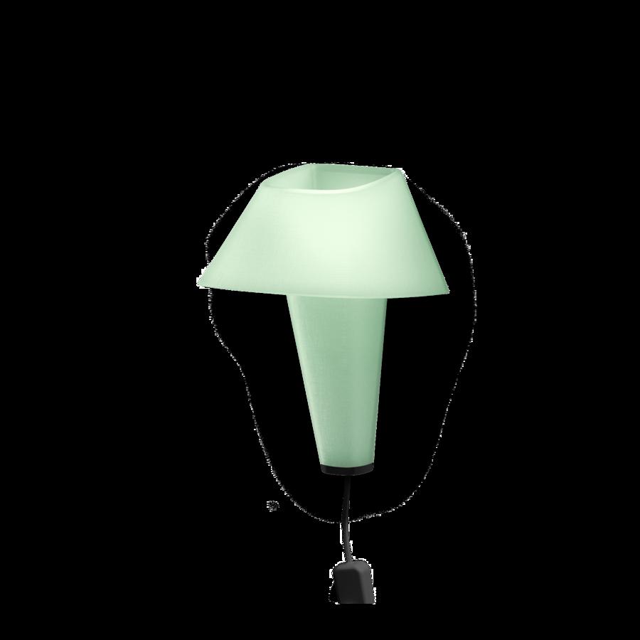 REVER WALL 2.1 Max 6W E14 LED IP20 seinavalgusti, roheline, must juhe pistiku ja hämarduslülitiga, must detail
