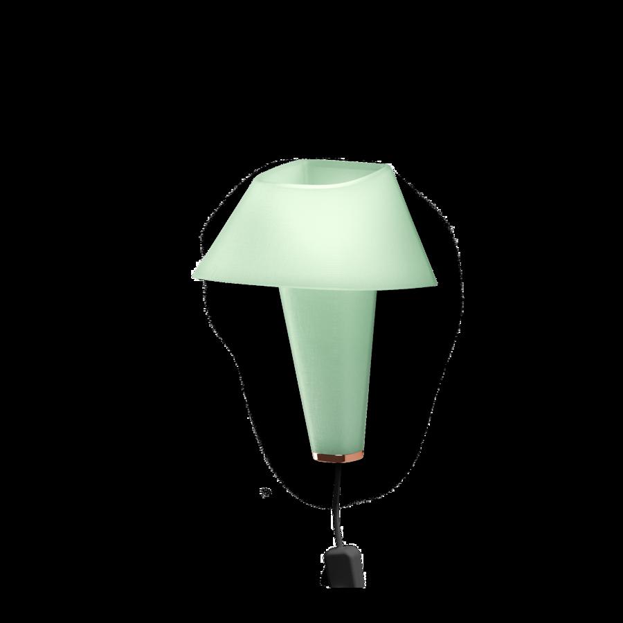 REVER WALL 2.1 Max 6W E14 LED IP20 seinavalgusti, roheline, must juhe pistiku ja hämarduslülitiga, vask detail