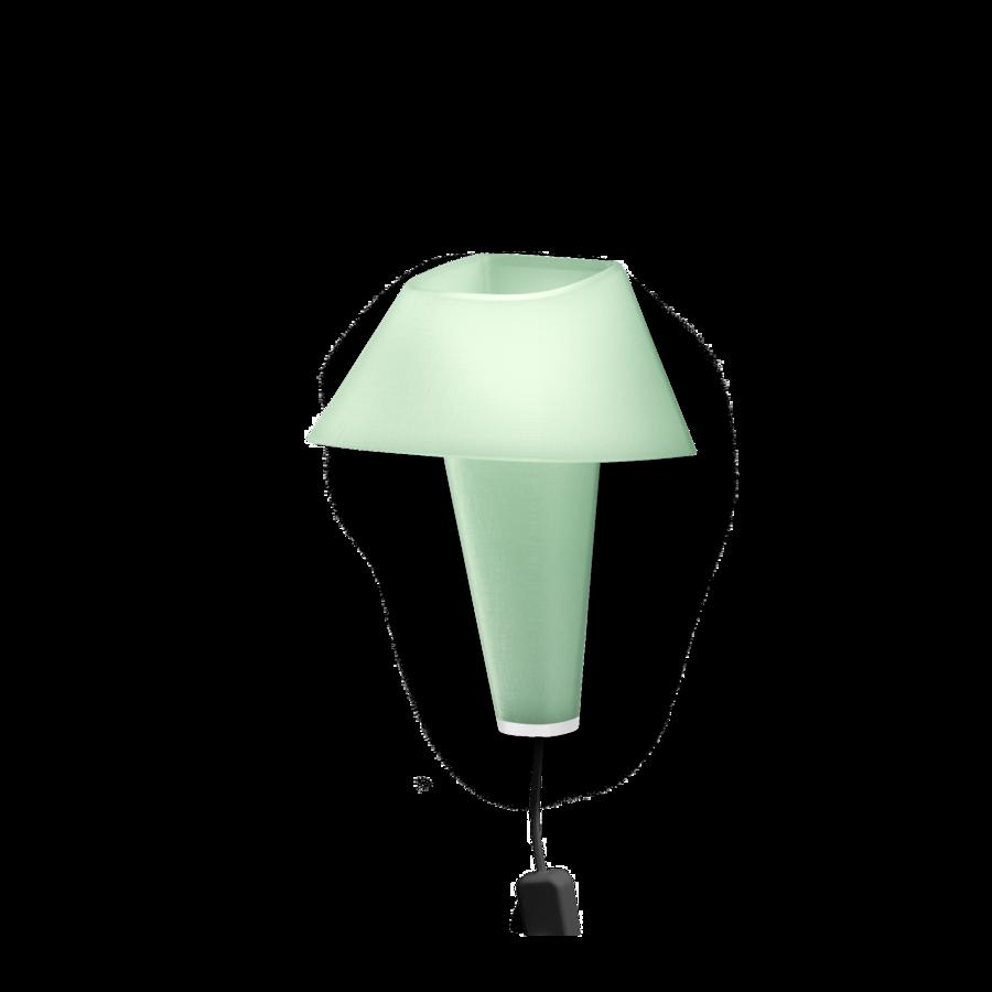 REVER WALL 2.1 Max 6W E14 LED IP20 seinavalgusti, roheline, must juhe pistiku ja hämarduslülitiga, valge detail
