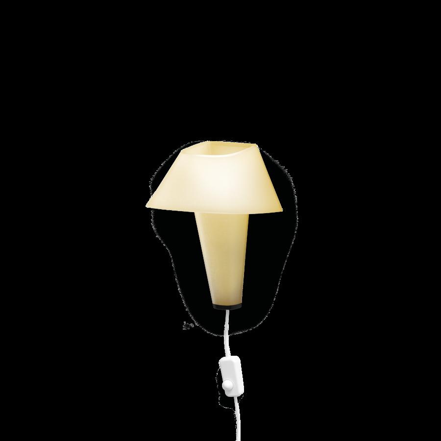 REVER WALL 2.1 Max 6W E14 LED IP20 seinavalgusti, kollane, valge juhe pistiku ja hämarduslülitiga, must detail