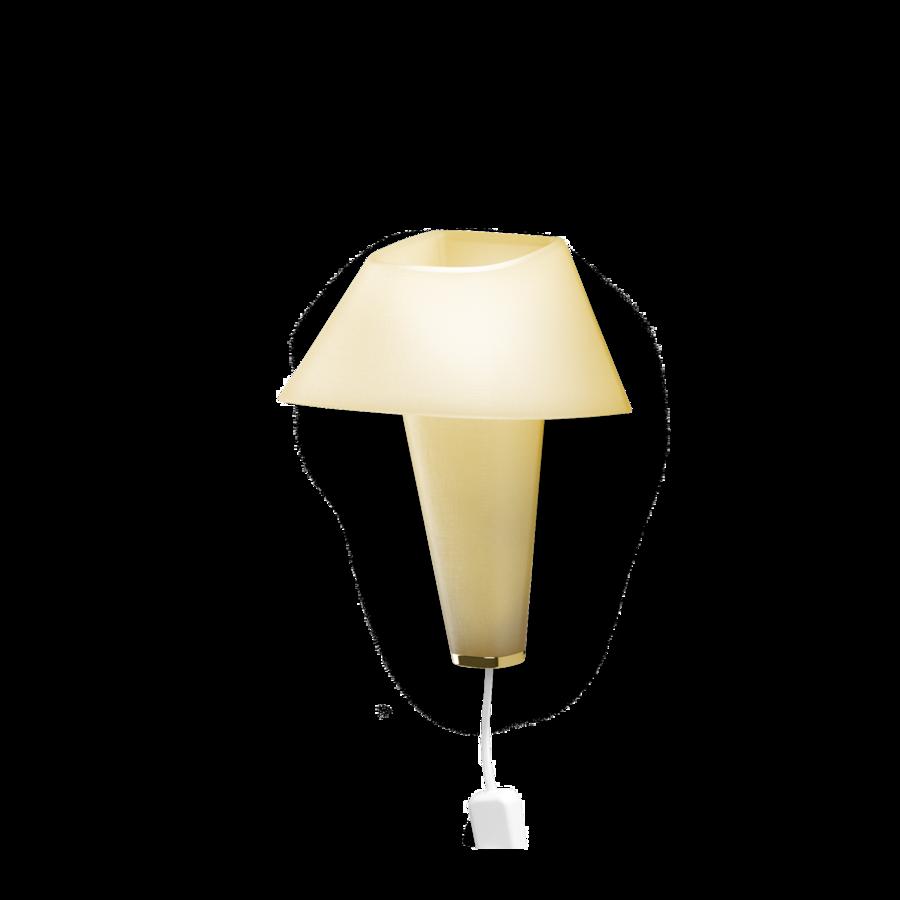 REVER WALL 2.1 Max 6W E14 LED IP20 seinavalgusti, kollane, valge juhe pistiku ja hämarduslülitiga, kuldne detail