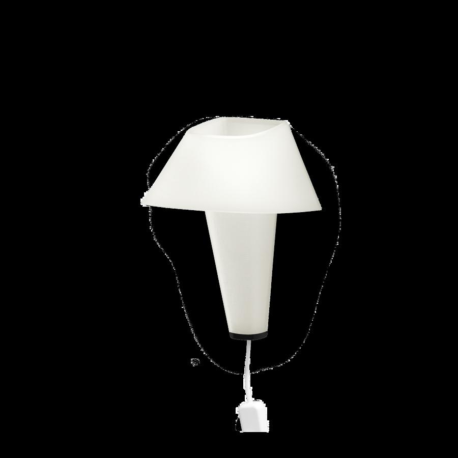 REVER WALL 2.1 Max 6W E14 LED IP20 seinavalgusti, valge, valge juhe pistiku ja hämarduslülitiga, must detail