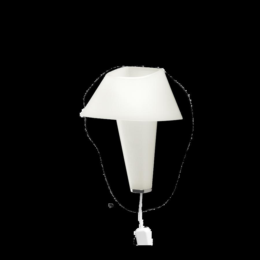 REVER WALL 2.1 Max 6W E14 LED IP20 seinavalgusti, valge, valge juhe pistiku ja hämarduslülitiga, kroom detail