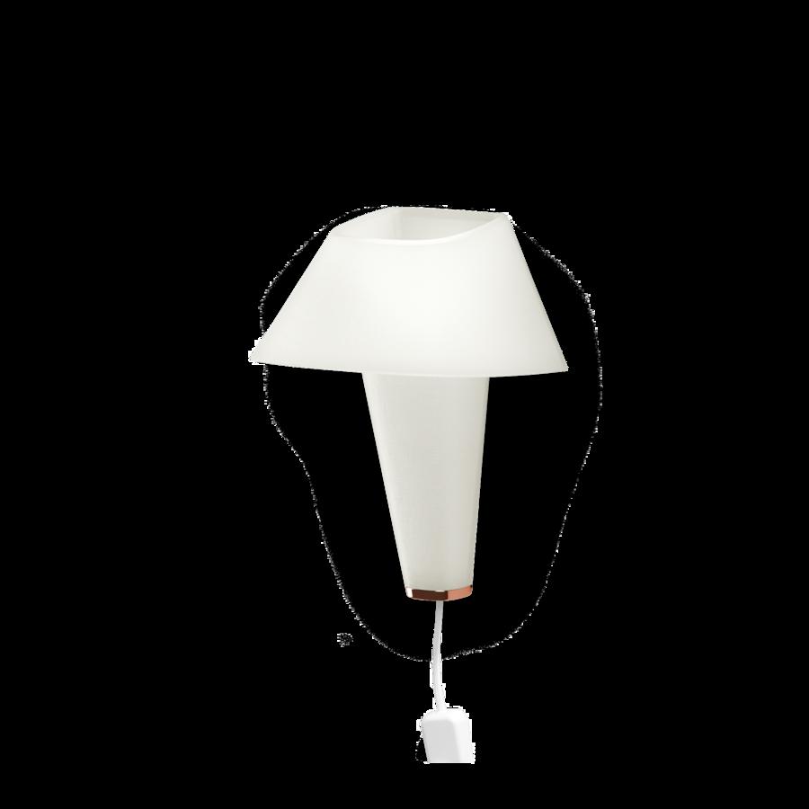 REVER WALL 2.1 Max 6W E14 LED IP20 seinavalgusti, valge, valge juhe pistiku ja hämarduslülitiga, vask detail