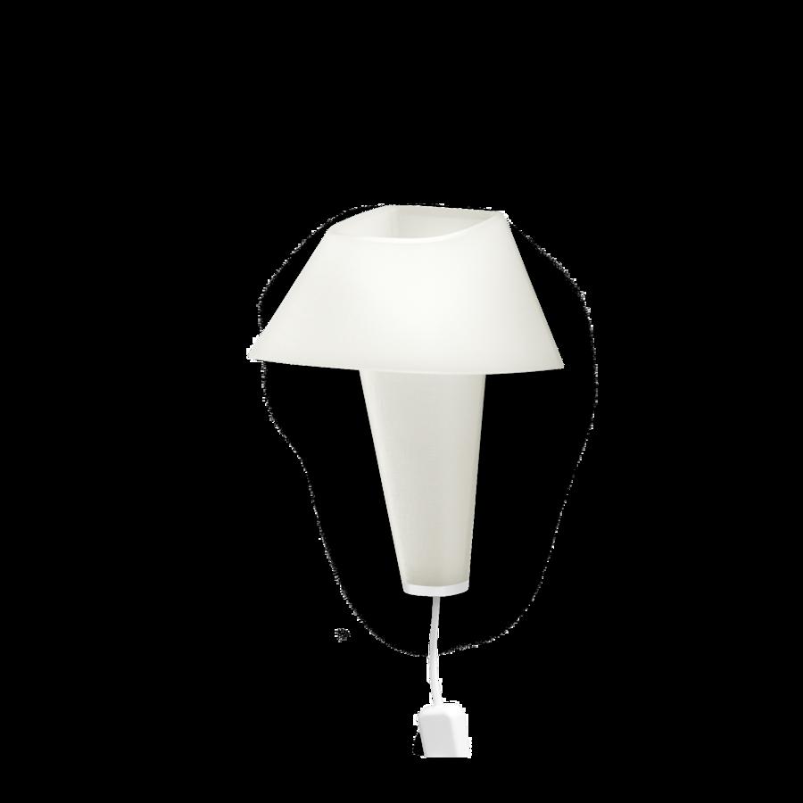 REVER WALL 2.1 Max 6W E14 LED IP20 seinavalgusti, valge, valge juhe pistiku ja hämarduslülitiga, valge detail