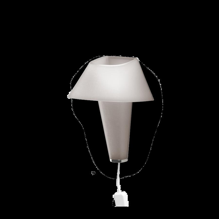REVER WALL 2.1 Max 6W E14 LED IP20 seinavalgusti, hall, valge juhe pistiku ja hämarduslülitiga, kroom detail