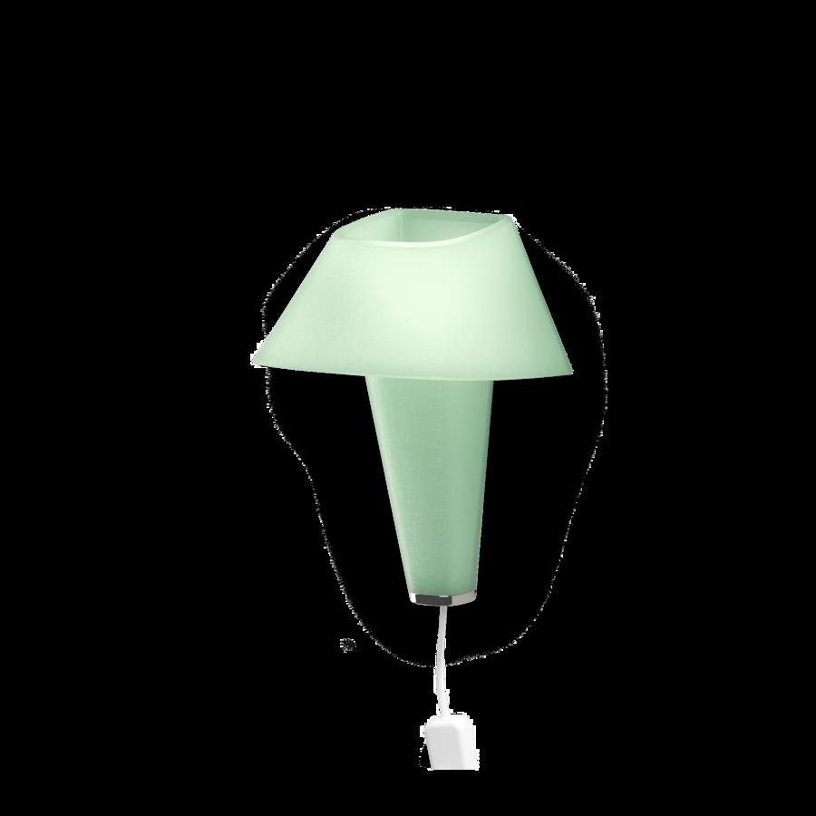 REVER WALL 2.1 Max 6W E14 LED IP20 seinavalgusti, roheline, valge juhe pistiku ja hämarduslülitiga, kroom detail