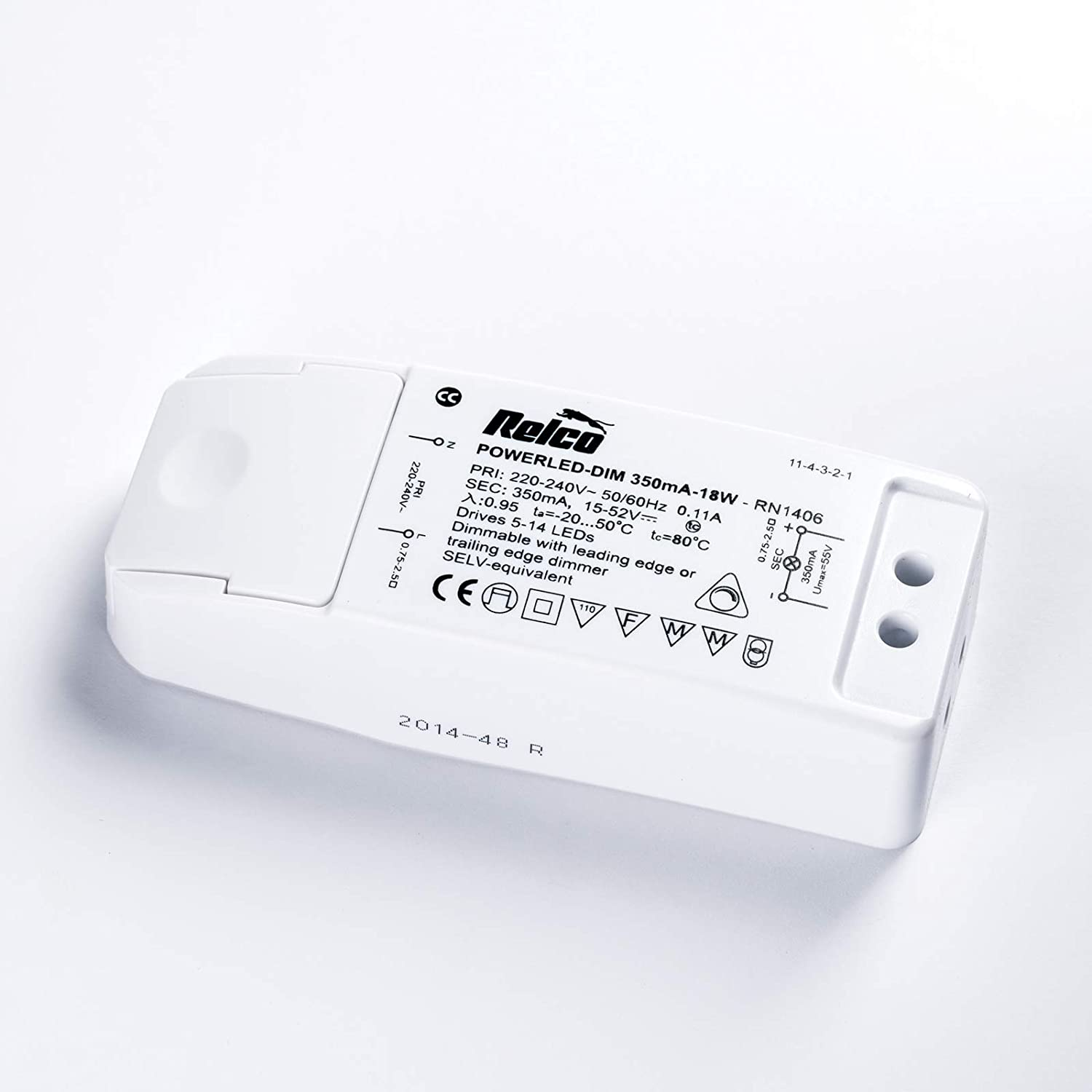 Led Driver 350mA 18W 113*44*28mm 15-52V DIM (RN1406)