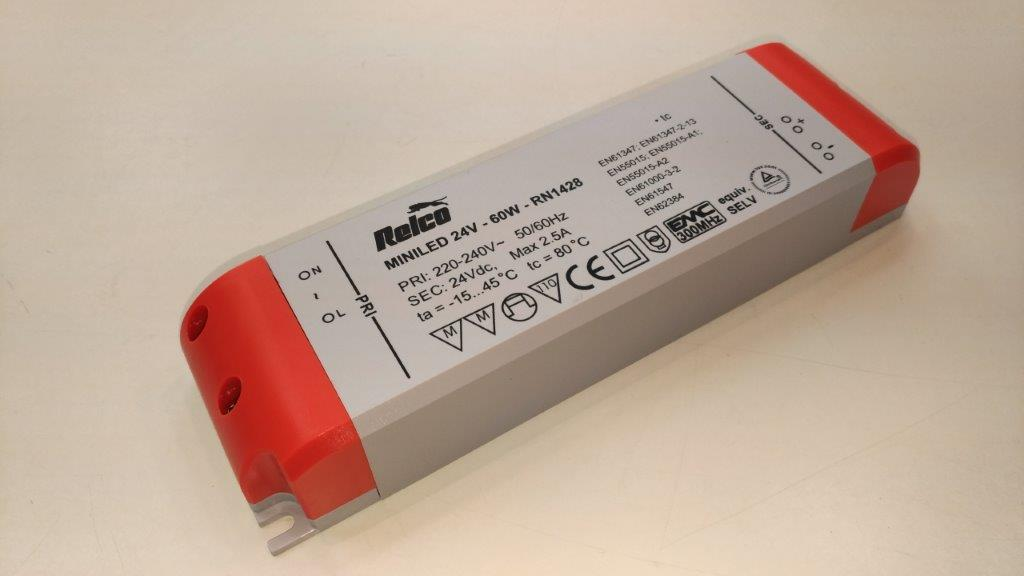 Relco LED driver 24V DC 60W (185*52*h30mm)