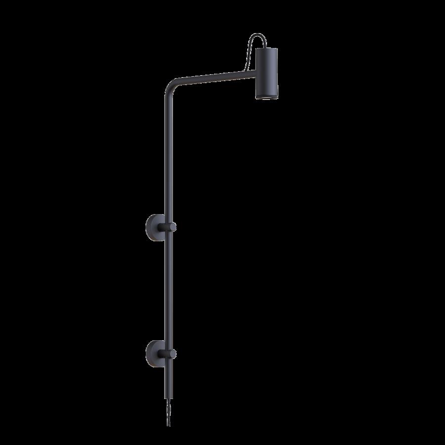 ROOMOR WALL 4.0 Max 15W GU10 LED IP20 seinavalgusti, pistikuga, ilma kuplita, must