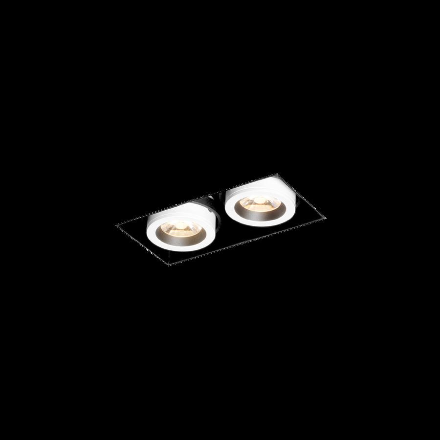 Wever & Ducré+Seek Gap 2.0 LED 2x5/7W 3000K 80CRI 350-500mA, Must/Valge