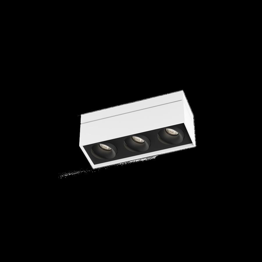 Sirro 3.0 LED 3x10W 3000K dim 90CRI 220-240V, Valge/Must
