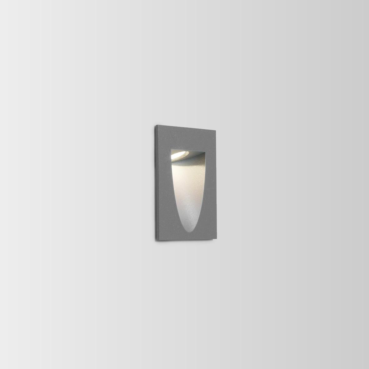 SMILE IN 2.0 LED 3000K TUMEHALL 4/6W CRI>80, 280/370lm, 350-700mA, välisvalgusti süvistatud seina