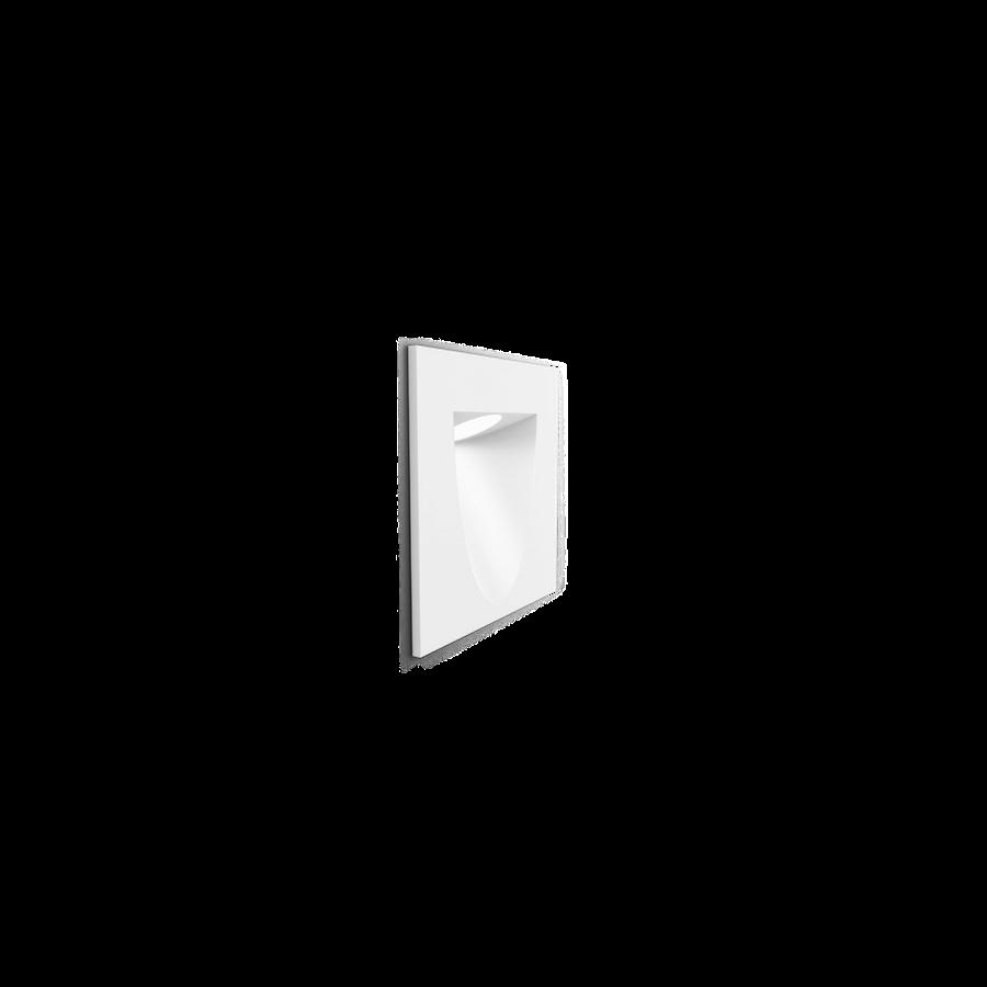 SMILE IN 2.0 LED 3000K 4/6W CRI>80, 280/370lm, 350-700mA, välisvalgusti süvistatud seina, valge