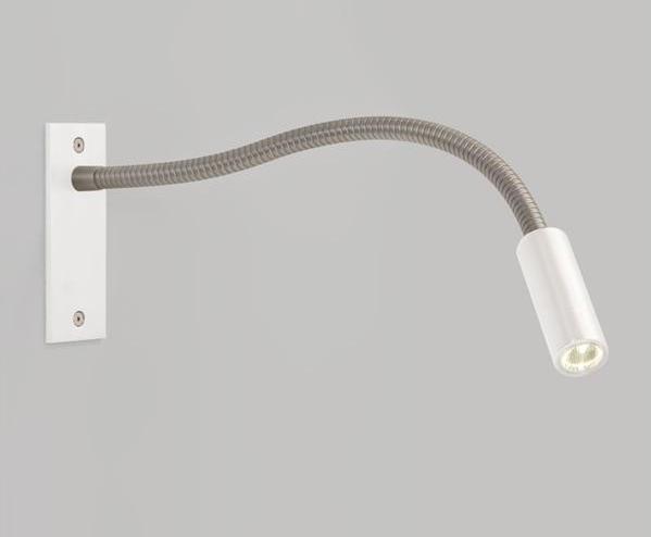 ASTRO+Fosso 1x1W LED 3000K, süvistatud seinavalgusti, ilma lülitita, matt nikkel/valge, LED liiteseade ja valgusallikas komplektis