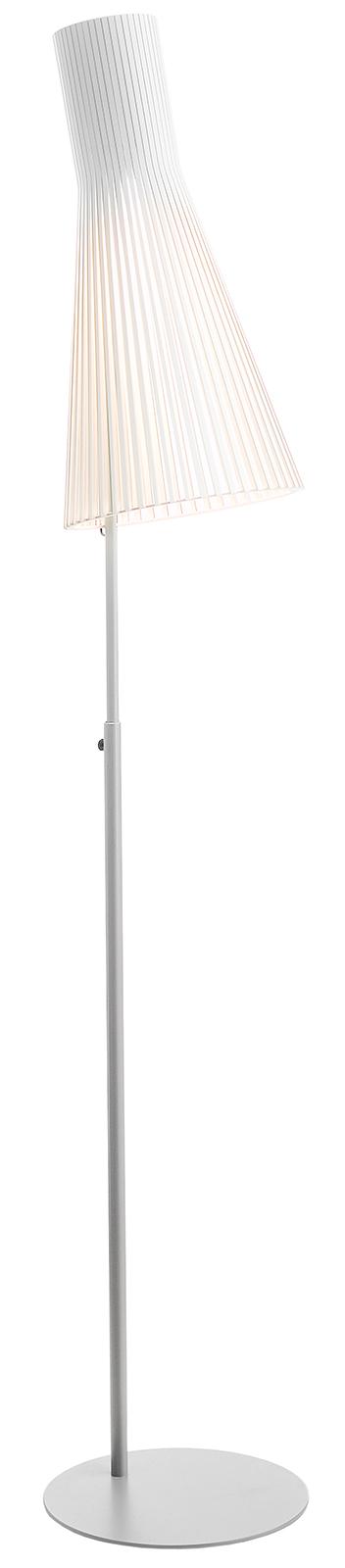 Secto 4210 42W E27 h=175-185cm põrandavalgusti, valge kasespoon