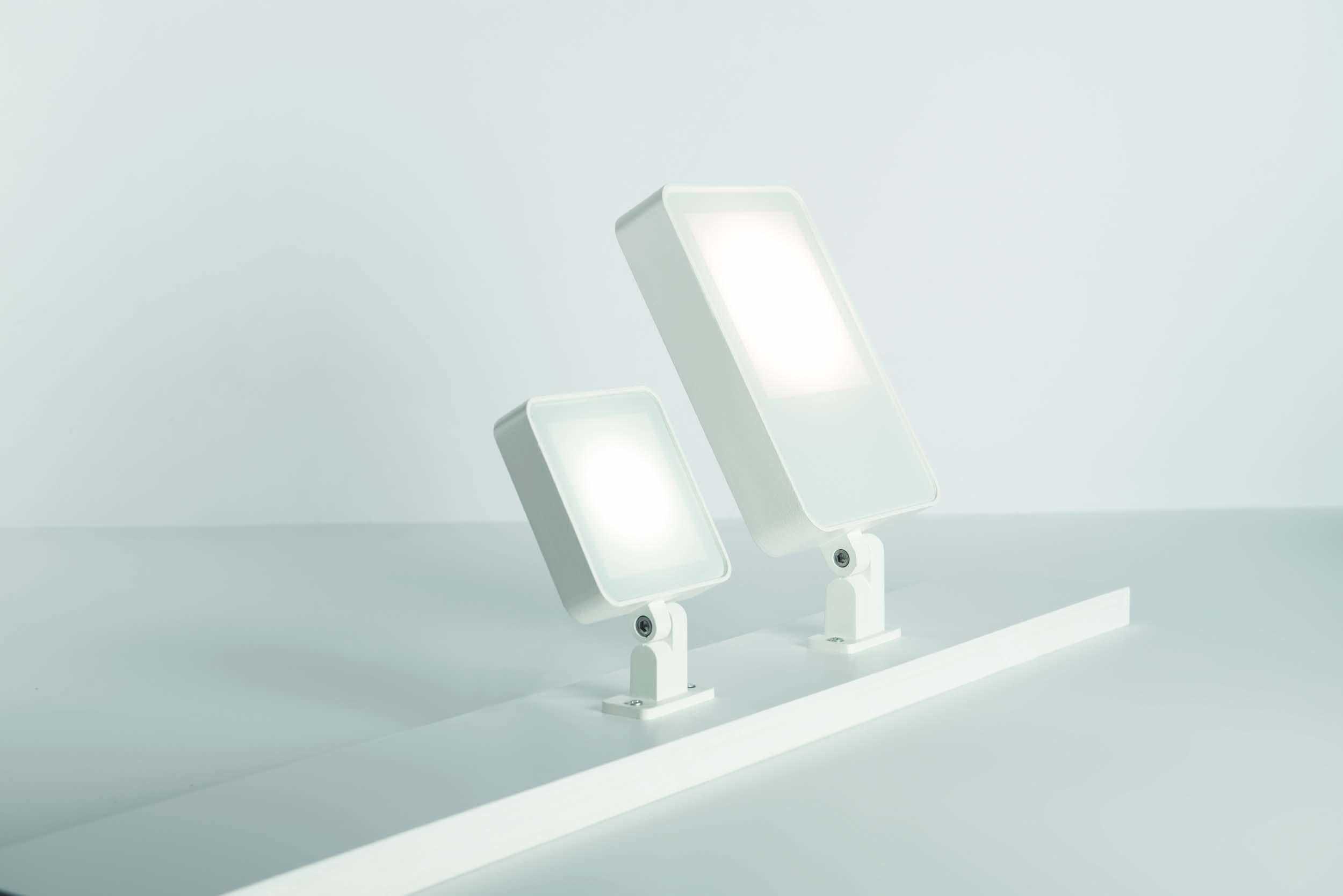 Välisvalgusti TAG 110 WHITE LED 10W 449lm 3000K alumiinium, hall (fotol valget värvi toode)