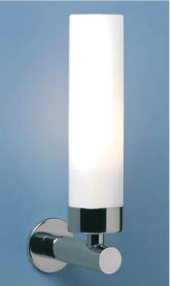 Tube Max 40W E14 IP44 vannitoavalgusti, hämardatav, poleeritud kroom, klaasist hajuti