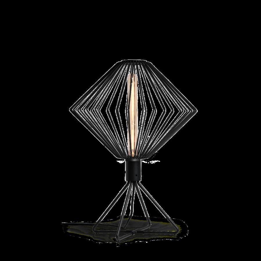 WIRO TABLE DIAMOND 1.0 Max 25W T30 E27 LED IP20 lauavalgusti, hämardiga, must