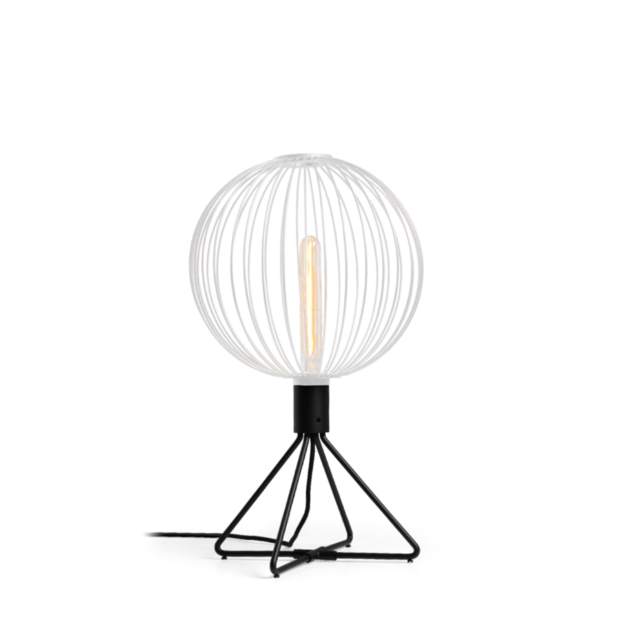 WIRO TABLE GLOBE 1.0 Max 25W T30 E27 LED IP20 lauavalgusti, hämardiga, valge