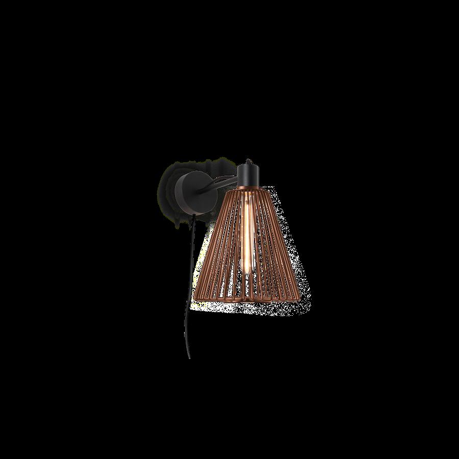 WIRO WALL CONE 1.1 Max 25W T30 E27 LED IP20 seinavalgusti, pistiku ja hämardiga, roostevärvi