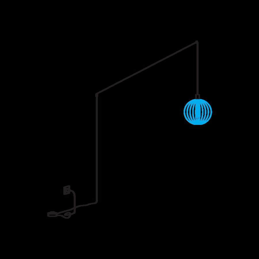 WIRO Plug + Play pistiku ja hämardiga riputi, MAX 4kg
