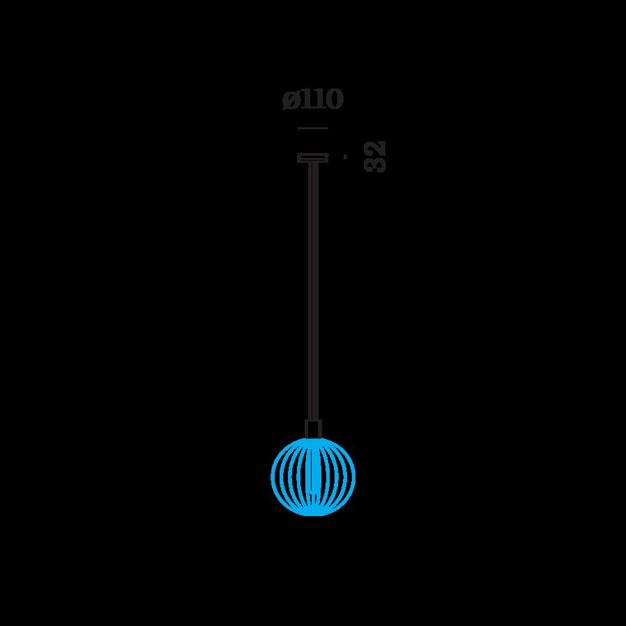 WIRO Single Suspension riputi, 2.6m