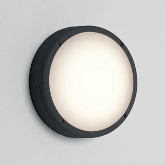 ARTA Round 275, 2x20W E27 CFL, must, välisvalgusti seinale/lakke