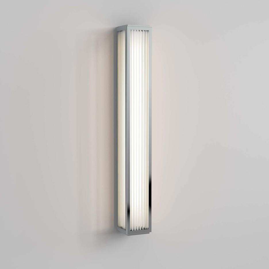 Boston 600 LED 21,9W 811lm 3000K IP44 seinavalgusti, poleeritud kroom, klaasist hajuti