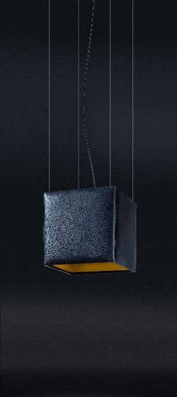 TAL+LEATHER CAD ON CABLE, BLACK LEATHER + GOLD, 100W E27, pakendita