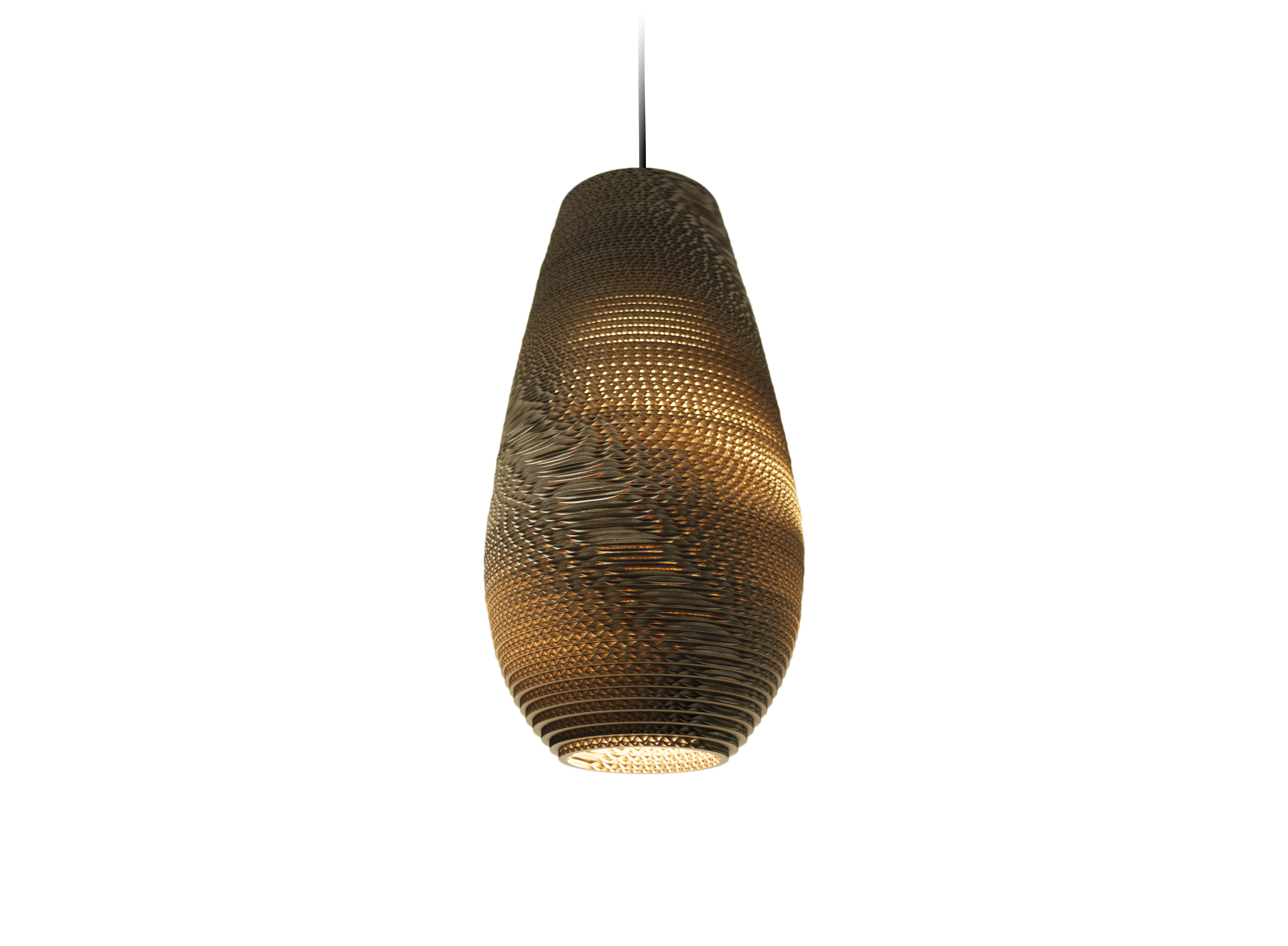 Drop18 Natural rippvalgusti 15W E27; Ø 25cm, H 45cm; pruun