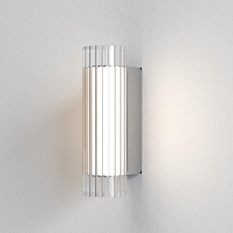 io Wall 265 LED 4,9W 403lm 3000K IP44 seinavalgusti, hämardatav, poleeritud kroom, klaas