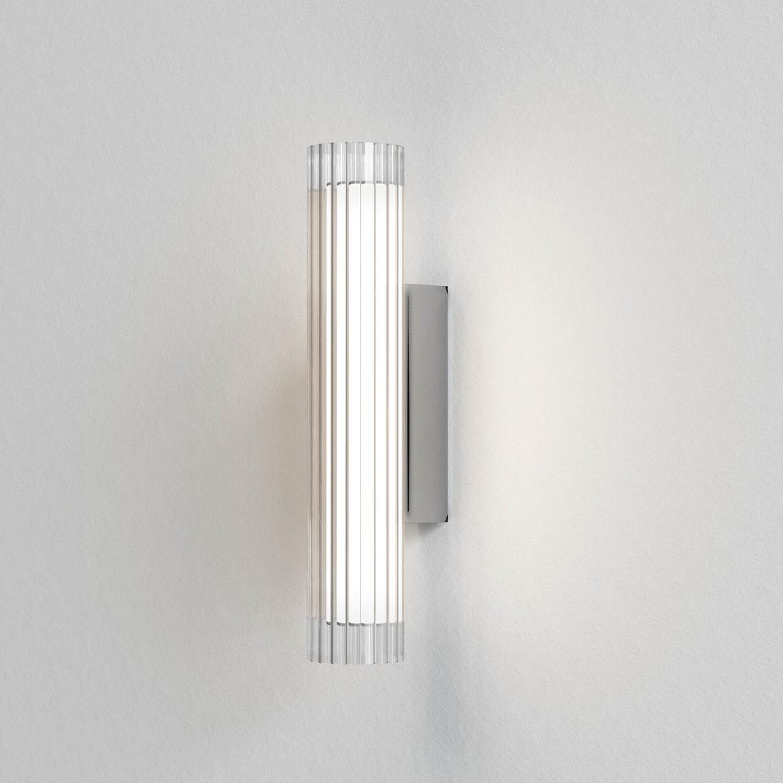io Wall 420 LED 6,5W 605lm 3000K IP44 seinavalgusti, hämardatav, poleeritud kroom, klaas