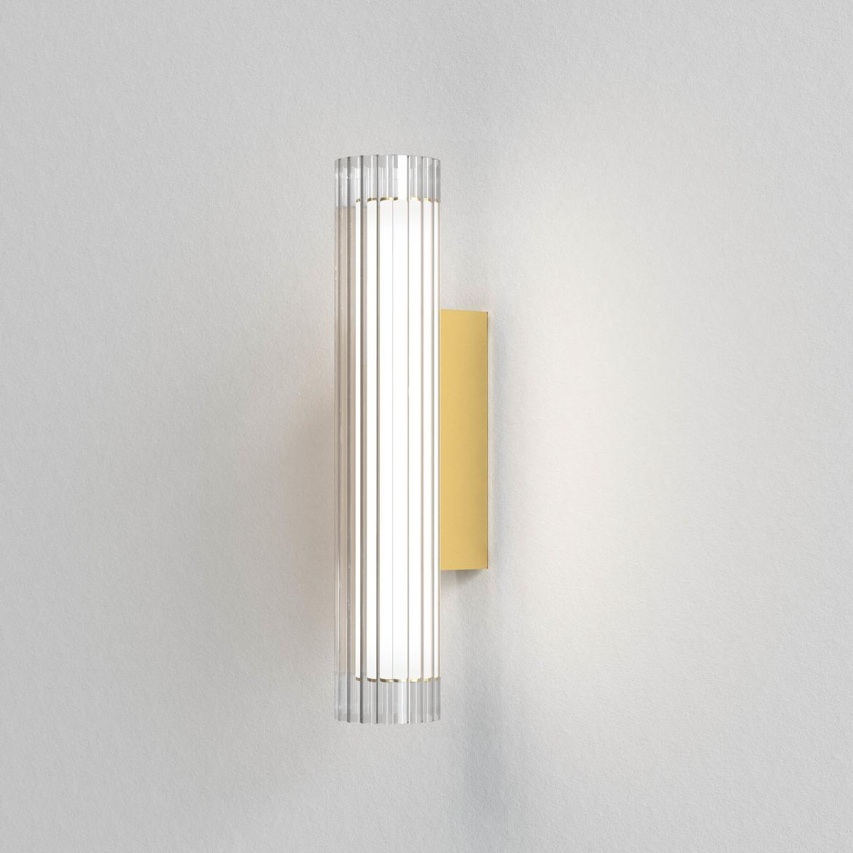 io Wall 420 LED 6,5W 605lm 3000K IP44 seinavalgusti, hämardatav, matt kuld, klaas