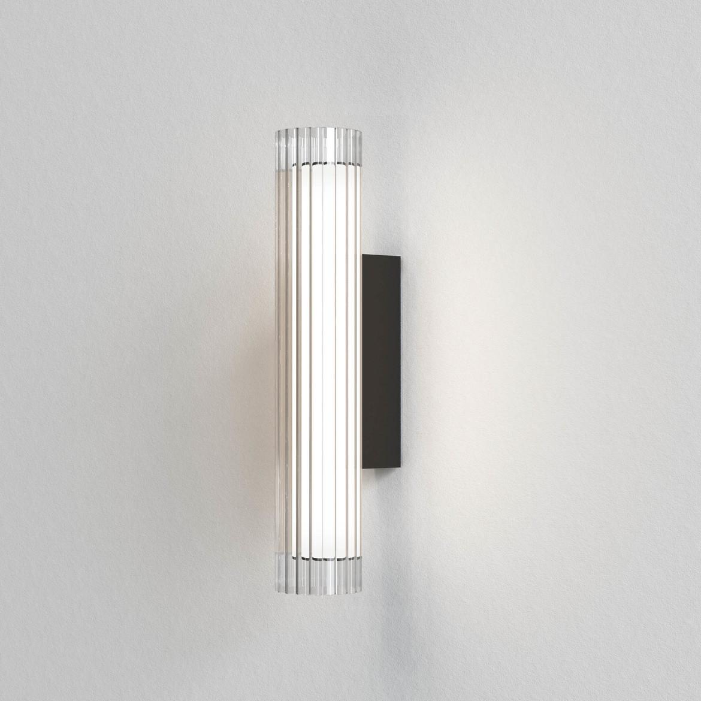 io Wall 420 LED 6,5W 605lm 3000K IP44 seinavalgusti, hämardatav, matt must, klaas