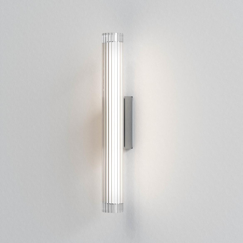 io Wall 665 LED 8,2W 825lm 3000K IP44 seinavalgusti, hämardatav, poleeritud kroom, klaas