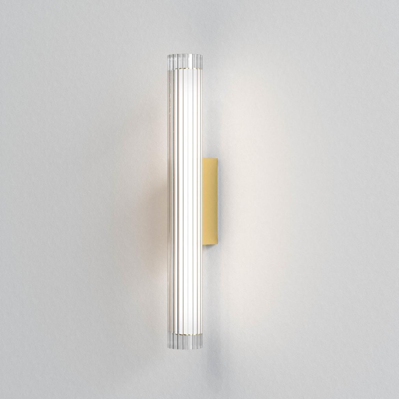 io Wall 665 LED 8,2W 825lm 3000K IP44 seinavalgusti, hämardatav, matt kuld, klaas