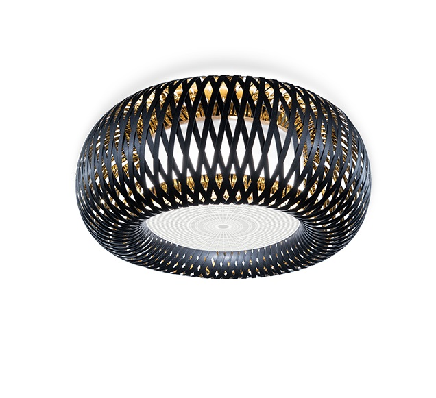 KALATOS 4x12W E27 D=63cm ceiling, black/gold