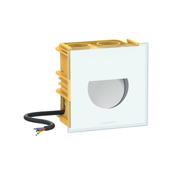 Seina süvisvalgusti Kit 04 - Pin Q Asimmetrico LED 2W 64lm 3000K alumiinium / klaas