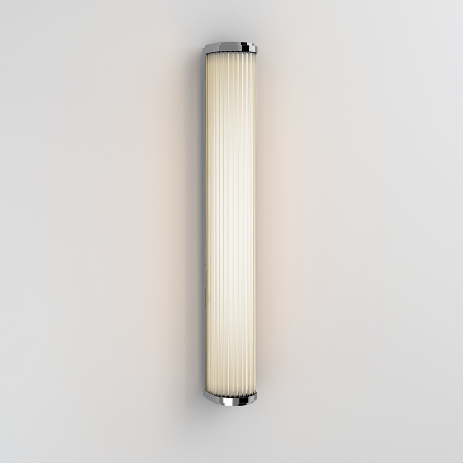 Versailles 600 LED 25W 1078lm 3000K IP44 vannitoavalgusti, poleeritud kroom, klaasist hajuti