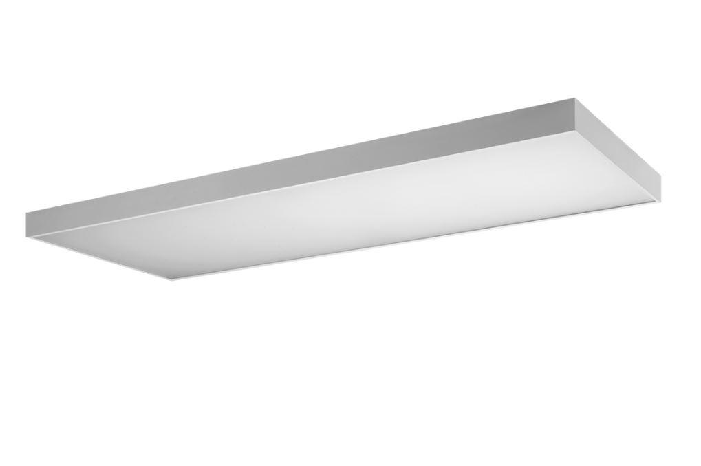 KVADO LED 44,6W 5150lm 3000K IP40, alumiinium/prismaatiline hajuti, valge