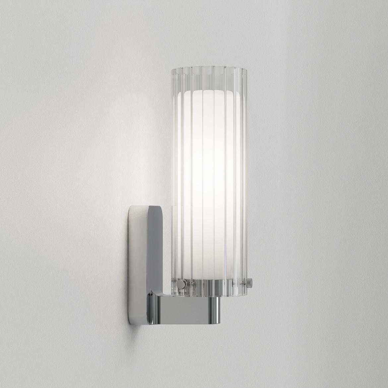 Ottavino Wall Max 5W E14 LED IP44 seinavalgusti, hämardatav, poleeritud kroom, klaasist hajuti