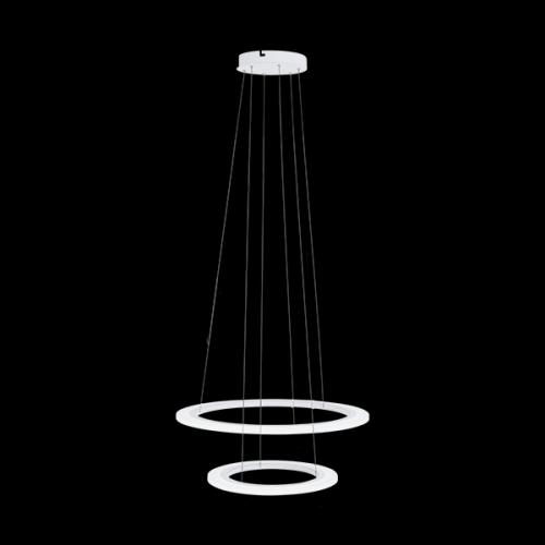 RippvalgustiPENAFORTE LED 18,5W+30,5W 2100+3600lm hämardatav, Ø590mm; metall, valge / plastik, valge