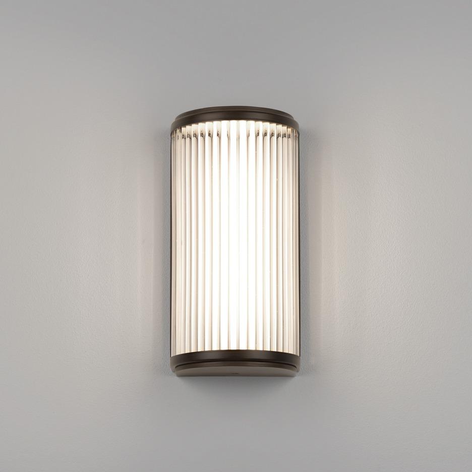 Versailles 250 LED 4,7W 371lm 3000K IP44 vannitoavalgusti, pronks, klaasist hajuti