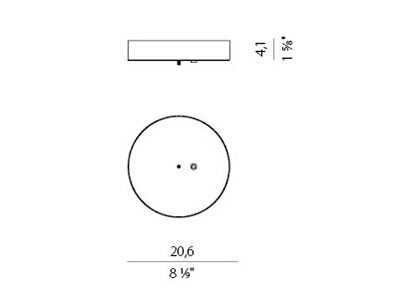 Rosett valgustile Zero Round, alumiinium, must