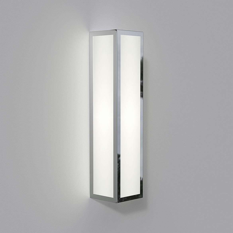 Salerno LED 8,1W 448lm 3000K IP44 seinavalgusti, poleeritud nikkel, klaasist hajuti