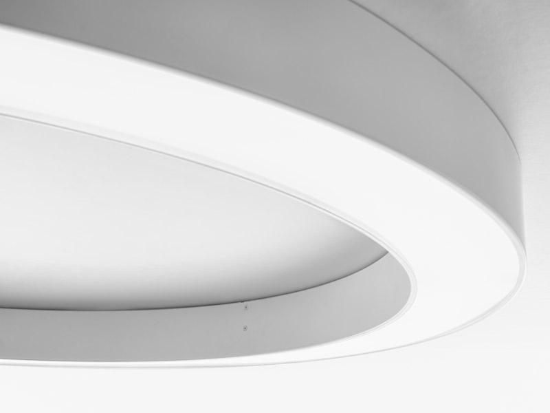 Panzeri+Silver Ring pinnapealne valgusti LED 48W 3000K 3115lm d=780mm h=80mm valge (Uus, pakendis)