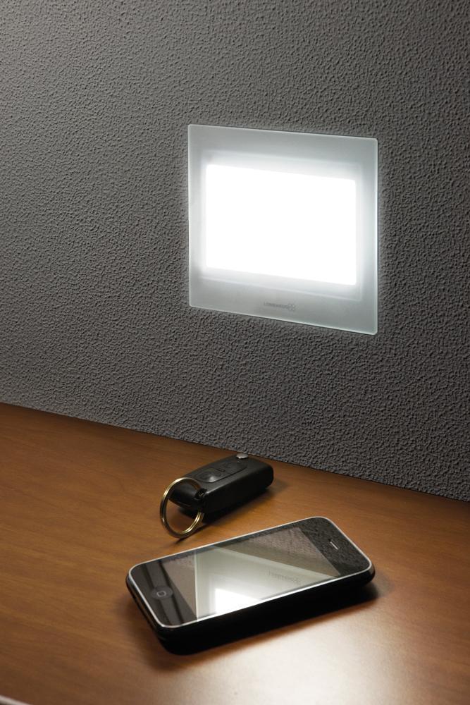 Seina süvisvalgusti STILE NEXT 503, LED 3W 68lm 3000K IP66 IK06 , alumiinium, must / klaas (pildil on valget värvi valgusti)
