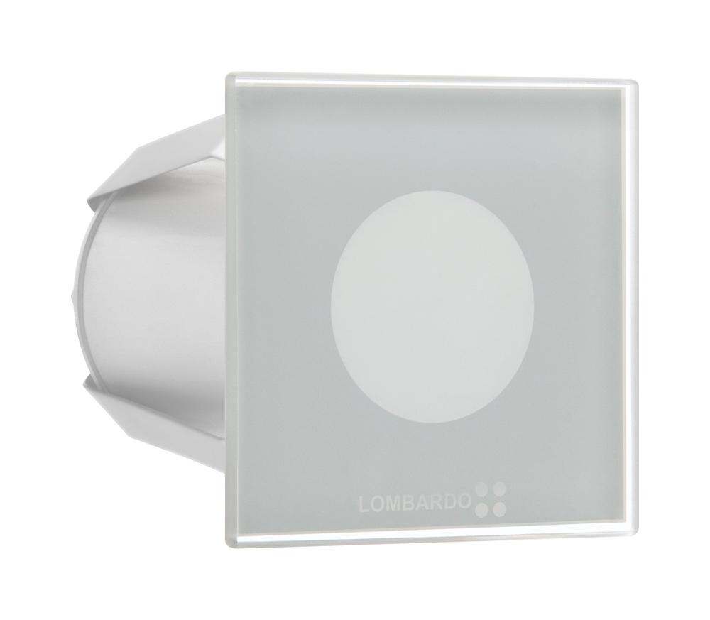 Seina süvisvalgusti STILE NEXT 60Q, LED 3W 38lm 3000K, alumiinium / klaas, matt valge